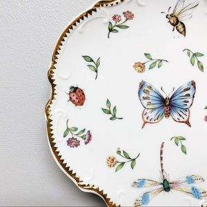 Vintage Butterfly Plate